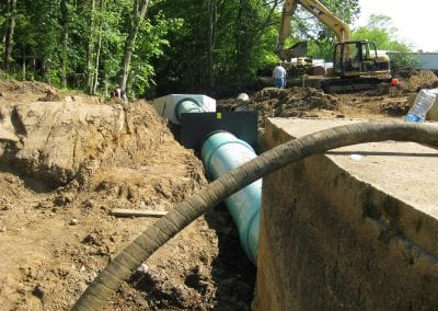 Twin Pond Outlet Pipe Design for Dam